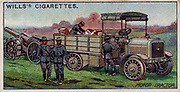 Military Motors series, 1916:  French Motor Tractor.