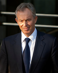 © under license to London News Pictures. 21/01/20011.Former Prime Minister Tony Blair leaves the Queen Elizabeth Conference Center in Westminster after giving his second day of evidence to the Chilcott Enquiry into the events that led to the Iraq war.. Photo credit should read Fuat Akyuz/LNP