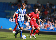 Brighton central midfielder Dale Stephens during the Sky Bet Championship match between Brighton and Hove Albion and Blackburn Rovers at the American Express Community Stadium, Brighton and Hove, England on 22 August 2015. Photo by Bennett Dean.