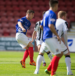 Cowdenbeath's Declan Hughes scoring their goal. <br /> Dunfermline 5 v 1 Cowdenbeath, Scottish League Cup game played today at East End Park.