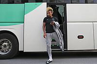 Fotball , 17. juni 2020 , Eliteserien,<br />Haugesund - Brann Bergen<br />Bismar Gilberto Acosta Evans fra Brann Bergen før kampen mot Haugesund.<br />Foto: Andrew Halseid Budd , Digitalsport
