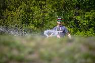 Sander Bisseling looking after the track during practice of Round 3 at the 2018 UCI BMX Superscross World Cup in Papendal, The Netherlands