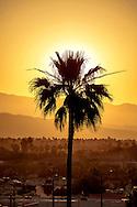 Sun rise over Palm Springs California