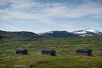Darreluoppal - Tarraluoppal mountain huts along Padjelantaleden Trail in Padjelanta national park, Lapland, Sweden