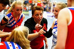 20150425 NED: Eredivisie VC Sneek - Eurosped, Sneek<br />Petra Groenland, headcoach of VC Sneek<br />©2015-FotoHoogendoorn.nl / Pim Waslander