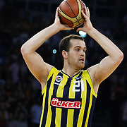 Fenerbahce Ulker's Oguz SAVAS (R) during their Turkish Basketball league Play Off Final third leg match Galatasaray between Fenerbahce Ulker at the Abdi Ipekci Arena in Istanbul Turkey on Thursday 09 June 2011. Photo by TURKPIX