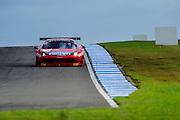 2012 FIA GT1 World Championship.Donington Park, Leicestershire, UK.27th - 30th September 2012.Filip Salaquarda / Marco Cioci, Ferrari 458 Italia GT3..World Copyright: Jamey Price/LAT Photographic.ref: Digital Image Donington_FIAGT1-17640