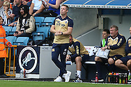 Neil Harris, the Millwall manager looks on from the dugout. EFL Skybet football league one match, Millwall v Bradford city at The Den in London on Saturday 3rd September 2016.<br /> pic by John Patrick Fletcher, Andrew Orchard sports photography.