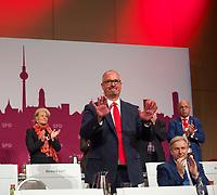 DEU, Deutschland, Germany, Berlin, 17.05.2014:<br />Landesparteitag der Berliner SPD im Hotel Estrel in Berlin-Neukölln. Der Vorsitzende des SPD-Landesverbandes Berlin, Jan Stöß (SPD), nach seiner Rede.
