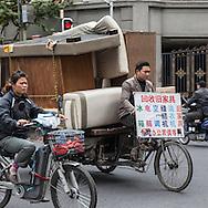 China, Shanghai. city center street life