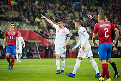 November 15, 2018 - Gdansk, Pomorze, Poland - Robert Lewandowski (9) during the international friendly soccer match between Poland and Czech Republic at Energa Stadium in Gdansk, Poland on 15 November 2018  (Credit Image: © Mateusz Wlodarczyk/NurPhoto via ZUMA Press)