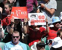 Tennis - 2019 Wimbledon Championships - Week One, Thursday (Day four)<br /> <br /> Men's singles, 2nd Round Jay Clarke (GBR) v Roger Federer (SUI)<br /> <br /> Roger Federer fans on Court 1<br /> <br /> COLORSPORT/ANDREW COWIE