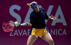 PORTOROZ, SLOVENIA - SEPTEMBER 13: Donna Vekic  of Croatia in action during the 1st Round of WTA 250 Zavarovalnica Sava Portoroz at SRC Marina, on September 13, 2021 in Portoroz / Portorose, Slovenia. Photo by Vid Ponikvar / Sportida