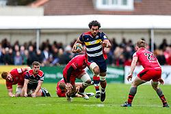 Steven Luatua (capt) of Bristol Rugby scores a try - Rogan/JMP - 28/10/2017 - RUGBY UNION - Stade Santander International - St Peter, Jersey - Jersey Reds v Bristol Rugby - Greene King IPA Championship.
