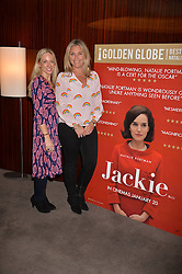 Left to right, Rosie Nixon and Tabitha Webb at a private screening of Jackie hosted by Rosie Nixon and Tabitha Webb at the Bulgari Hotel, 171 Knightsbridge, London,  England. 12 January 2017.