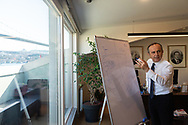 Zafer Sönmez, Board Member and Managing Director of the Turkey Wealth Fund, in his office in Ortaköy, Istanbul, Turkey.