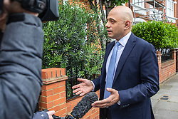 © Licensed to London News Pictures. 28/05/2019. London, UK. Home Secretary Sajid Javid, who has announced that he will run to be the next leader of the Conservative Party and Prime Minister, speaks to reporters. Photo credit: Rob Pinney/LNP