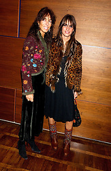 Left to right, EMMA HANBURY and her daughter MARINA HANBURY at a party to celebrate the publication of 'E is for Eating' by Tom Parker Bowles held at Kensington Place, 201 Kensington Church Street, London W8 on 3rd November 2004.<br /><br />NON EXCLUSIVE - WORLD RIGHTS