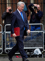 © Licensed to London News Pictures. 08/03/2017. London, UK.  Photographers watch as Defence secretary MICHAEL FALLON arrives on Downing Street for a cabinet meeting before British chancellor Philip Hammond delivers his 2017 Budget to Parliament. Photo credit: Ben Cawthra/LNP