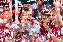 15-05-2019 NED: De Graafschap - Ajax, Doetinchem<br /> Round 34 / It wasn't really exciting anymore, but after the match against De Graafschap (1-4) it is official: Ajax is champion of the Netherlands / Dusan Tadic #10 of Ajax, Lasse Schone #20 of Ajax, Frenkie de Jong #21 of Ajax, Klaas Jan Huntelaar #9 of Ajax