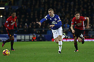 Gerard Deulofeu of Everton in action. Premier league match, Everton v Manchester United at Goodison Park in Liverpool, Merseyside on Sunday 4th December 2016.<br /> pic by Chris Stading, Andrew Orchard sports photography.