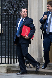 © Licensed to London News Pictures. 16/01/2018. London, UK. International Trade Secretary Liam Fox leaving Downing Street after attending a Cabinet meeting this morning. Photo credit : Tom Nicholson/LNP