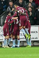 Football - 2018 / 2019 Championship - Swansea City vs Aston Villa<br /> … at the Liberty Stadium.<br /> <br /> Aston Villa celebrate their 1st goal <br /> <br /> Credit: COLORSPORT/Winston Bynorth