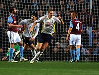 Michael Dawson Celebrates Scoring 1st goal<br /> Tottenham Hotspur 2009/10<br /> Aston Villa V Tottenham Hotspur 28/11/09<br /> The Premier League<br /> Photo Robin Parker Fotosports International