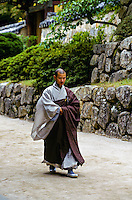 Buddhist monk, Pulguksa Temple, Kyongju, South Korea