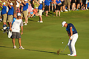January 10 2016: Brooks Koepka on eighteen during the Final Round of the Hyundai Tournament of Champions at Kapalua Plantation Course on Maui, HI. (Photo by Aric Becker)