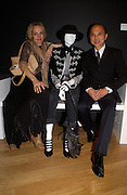 Bay Garnett and Jimmy Choo, Party hosted by Alexandra Shulman, Rupert Hambro and Prof  Jack Lohman to open 'The London Look, Fashion from Street to Catwalk', Museum of London. ONE TIME USE ONLY - DO NOT ARCHIVE  © Copyright Photograph by Dafydd Jones 66 Stockwell Park Rd. London SW9 0DA Tel 020 7733 0108 www.dafjones.com