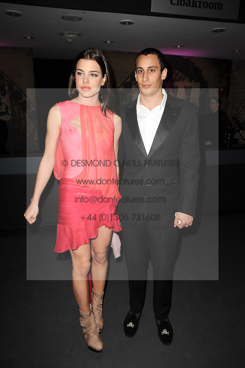Charlotte Casiraghi and ALEX DELLAL at The Love Ball hosted by Natalia Vodianova and Lucy Yeomans to raise funds for The Naked Heart Foundation held at The Round House, Chalk Farm, London on 23rd February 2010.