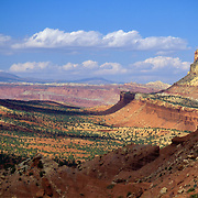 The Waterpocket Fold in Capitol Reef National Park, Utah is a long uplifted segment of unique geography