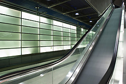 Escalators in Potsdamer Platz railway Station Berlin 2009