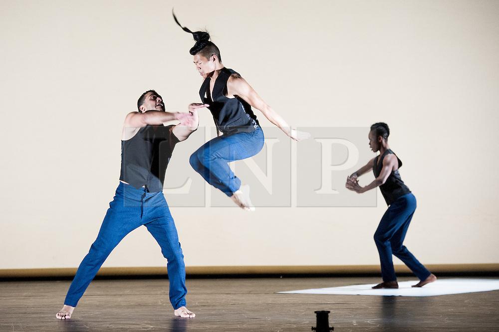 © Licensed to London News Pictures. 11/10/2012. London, UK. Sadler's Wells Theatre present Cedar Lake Contemporary Ballet Company. Picture shows Alexander Ekman's Tuplet.  Dancers Joseph Kudra & Matthew Rich. Photo credit: Tony Nandi/LNP