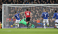 Leighton Baines of Everton scores a penalty during the Premier League match at Goodison Park, Liverpool. Picture date: December 4th, 2016.Photo credit should read: Lynne Cameron/Sportimage