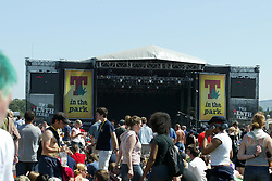 Fans at the main stage, T in the Park Sunday 13 July 2003..Pic: © Michael Schofield..