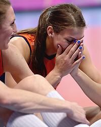 09-01-2016 TUR: European Olympic Qualification Tournament Rusland - Nederland, Ankara<br /> De Nederlandse volleybalsters hebben de finale van het olympisch kwalificatietoernooi tegen Rusland verloren. Oranje boog met 3-1 voor de Europees kampioen (25-21, 22-25, 25-19, 25-20) / Quinta Steenbergen #7, Robin de Kruijf #5