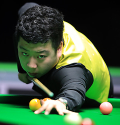 Li Hang during his match with Scott Donaldson on day seven of the 2017 Betway UK Championships at the York Barbican. PRESS ASSOCIATION Photo. Picture date: Monday December 4, 2017. See PA story SNOOKER York. Photo credit should read: Mike Egerton/PA Wire