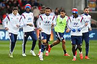 Groupe Lyon - 04.04.2015 - Guingamp / Lyon - 31eme journee de Ligue 1<br />Photo : Vincent Michel / Icon Sport