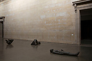 Interior of Tate Britain gallery containing three figure sculptures by contemporary artist Antony Gormley in London, England, United Kingdom. (photo by Mike Kemp/In Pictures via Getty Images)