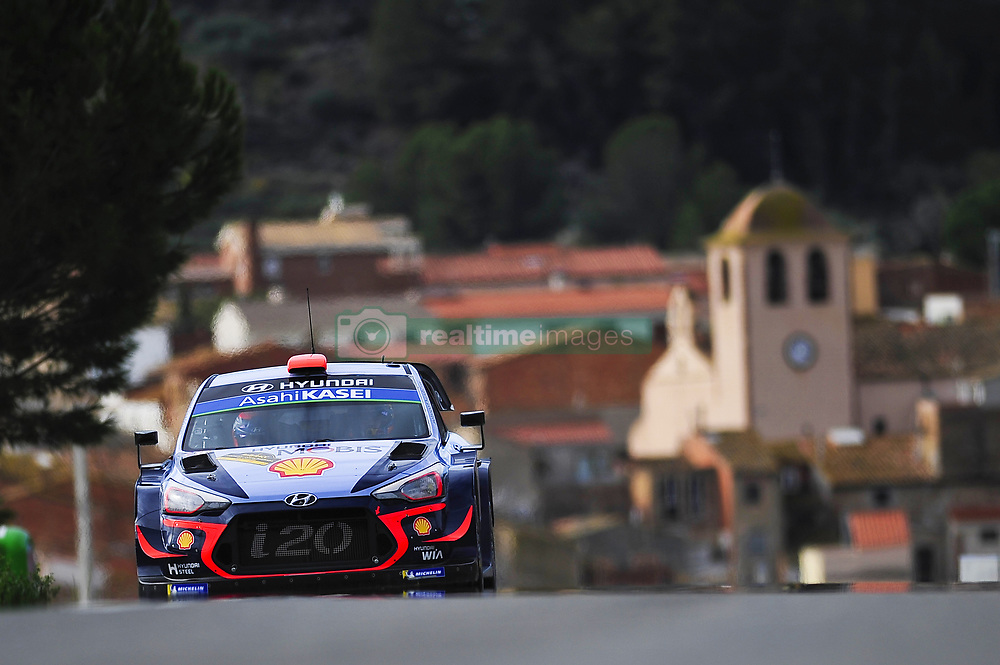 October 28, 2018 - Barcelona, Catalonia, Spain - The Belgian driver, Thierry Neuville and his co-driver Nicolas Gilsoul of Hyundai Motorsport, during the last day of WRC Rally Racc Catalunya Costa Daurada, on October 28, 2018 in Salou, Spain. (Credit Image: © Joan Cros/NurPhoto via ZUMA Press)