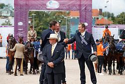 Team Netherlands, De Ronde Koos, Chardon IJsbrand, Timmerman Theo<br /> FEI European Driving Championships - Goteborg 2017 <br /> © Hippo Foto - Dirk Caremans<br /> 27/08/2017,