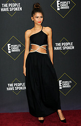 Zendaya Coleman at the 2019 E! People's Choice Awards held at the Barker Hangar in Santa Monica, USA on November 10, 2019.
