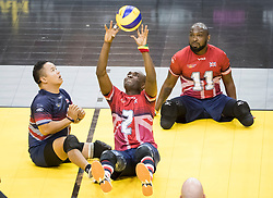 The UK takes on Denmark during the Sitting Volleyball Finals at Mattamy Athletic Centre during the 2017 Invictus Games in Toronto, Canada.