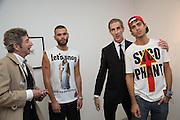 DUGGIE FIELDS;   DAVID CROLAND;; LUCA MARCHETTO; JORDAN BOWEN;, Fashion Show: Robert Mapplethorpe. Alison Jacques Gallery. Berners St. London. 10 September 2013
