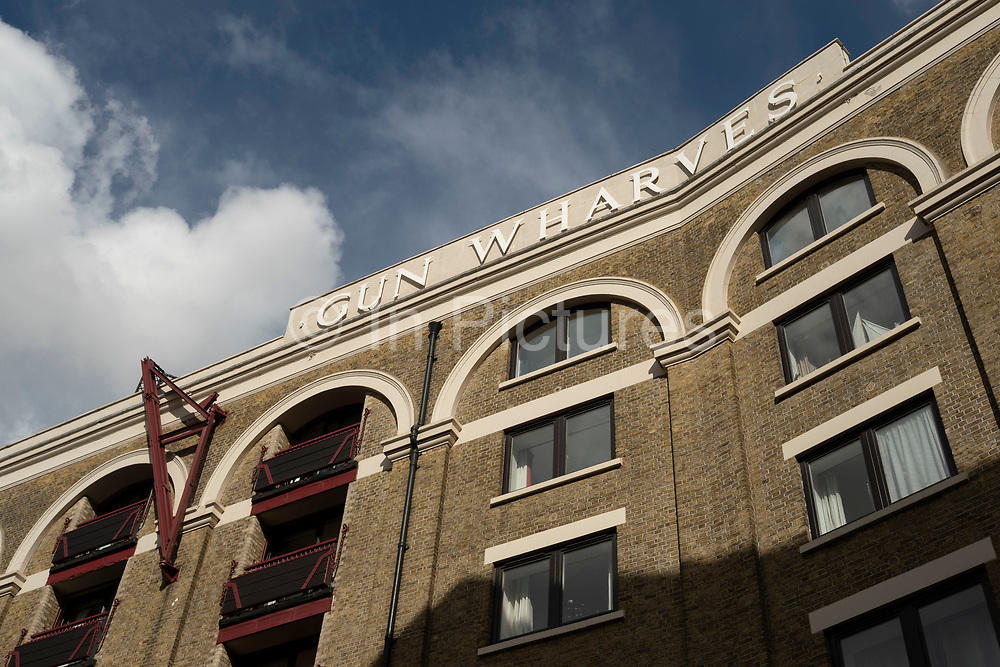 Gun Wharf in Wapping on 24th May 2021 in London, United Kingdom. Gun Wharves is an iconic Grade II Listed Victorian riverside warehouse building, which is restored to provide accommodation in a historical environment.