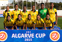 Fifa Womans World Cup Canada 2015 - Preview //<br /> Algarve Cup 2015 Tournament ( Municipal Stadium - Albufeira , Portugal ) - <br /> Brazil vs China 0-0 - Team Group of Brazil , from the left up :<br /> Andressa Alves ,Tayla ,Formiga ,Rosana ,Luciana ,Bruna // Maurine ,Thaisa ,Fabiana ,Marta ,Debinha