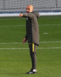 Manchester City manager Josep Guardiola points - Mandatory by-line: Matt McNulty/JMP - 31/10/2016 - FOOTBALL - City Football Academy - Manchester, England - Manchester City v Barcelona - UEFA Champions League - Group C