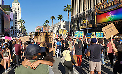 LA Protesters form the largest crowd thus far of over 20,000 marching through Hollywood in a Tidal wave people and signs. 07 Jun 2020 Pictured: LA Protesters George Floyd Black Lives Matter March. Photo credit: APEX / MEGA TheMegaAgency.com +1 888 505 6342